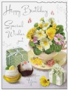 Happy Birthday with Cake Card